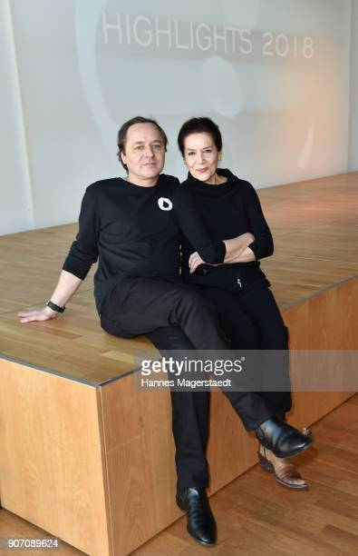 Actor Thomas Schmauser and Hannelore Elsner during the BR Film Brunch at Literaturhaus on January 19 2018 in Munich Germany