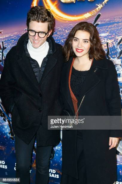 Actor Thomas Soliveres and Actress Nassima Benchicou attend 'Santa Cie' Paris Premiere at Cinema Pathe Beaugrenelle on December 3 2017 in Paris France