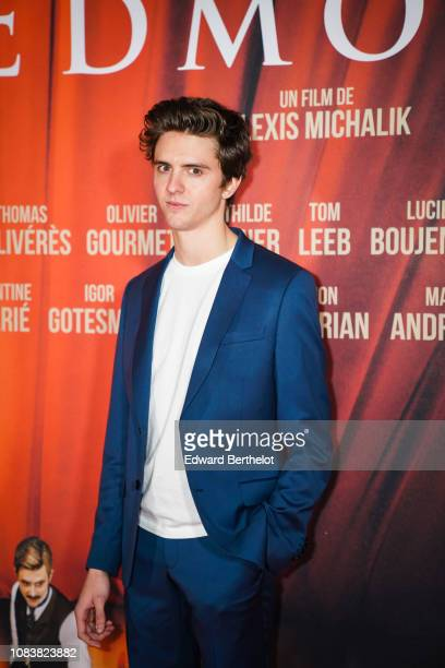Actor Thomas Soliveres during the 'Edmond' Paris Premiere photocall at Cinema Pathe Beaugrenelle on December 17 2018 in Paris France