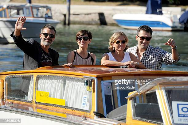 Actor Thomas Trabacchi actress Claudia Pandolfi with director Cristina Comencini and actor Filippo Timi are seen during the 68th Venice International...