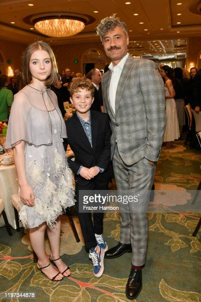 Actor Thomasin McKenzie actor Roman Griffin Davis and actordirector Taika Waititi attend the 20th Annual AFI Awards at Four Seasons Hotel Los Angeles...