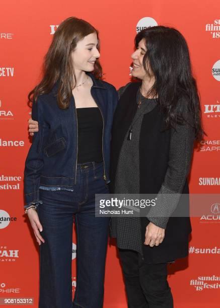 "Actor Thomasin McKenzie and Director Debra Granik attend the ""Leave No Trace"" Premiere during the 2018 Sundance Film Festival at Eccles Center..."