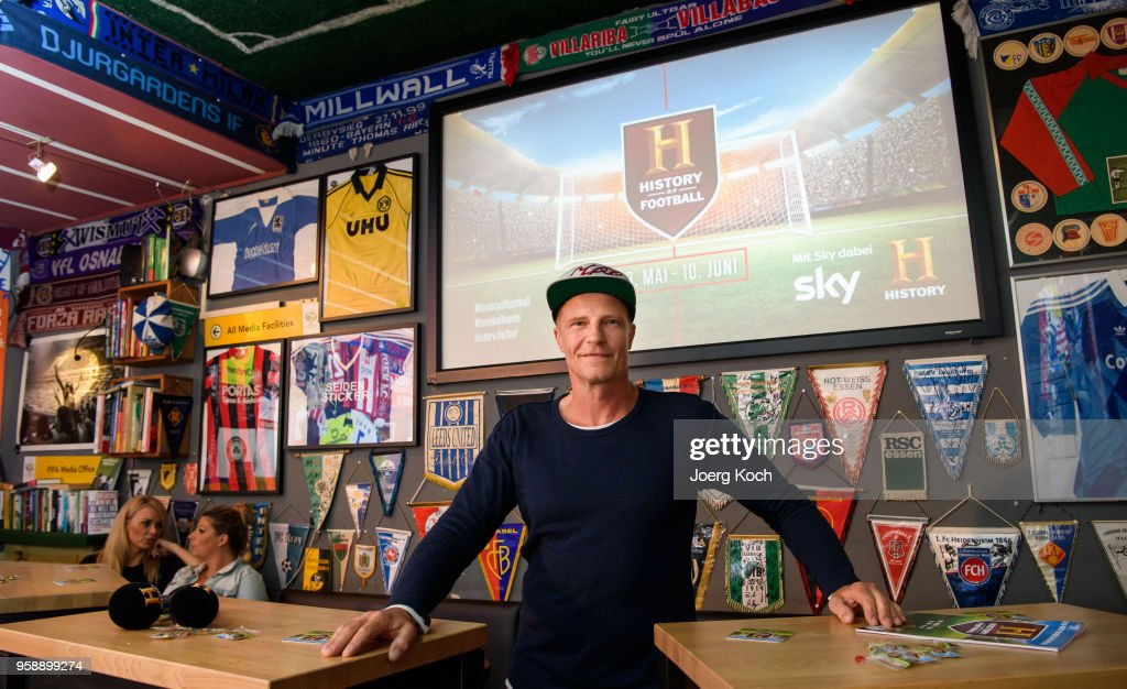 Actor Thorsten Nindel attends the preview screening of the new documentaries 'Deutschland - Deine Fussballseele' and 'Magische WM-Momente - Tore, Traeume & Triumphe: 7 zu 1' as part of the TV event 'History of Football' by TV channel HISTORY at sports bar 'Stadion an der Schleissheimerstrasse' on May 15, 2018 in Munich, Germany.