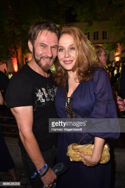 Actor Thure Riefenstein and actress Patricia Lueger at the Event Movie meets Media during the Munich Film Festival on June 30 2018 in Munich Germany