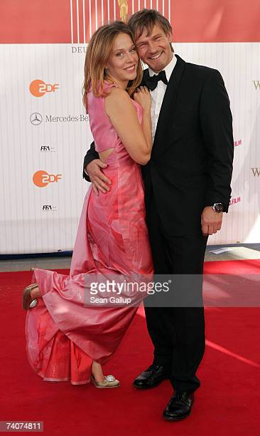 Actor Thure Riefenstein and actress Patricia Lueger attend the German Film Award at the Palais am Funkturm May 4 2007 in Berlin Germany