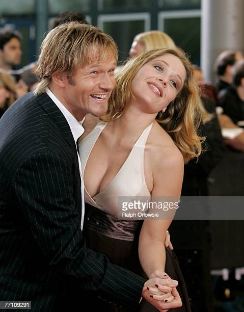 Actor Thure Riefenstein and actress Patricia Lueger attend the German Television Awards at the Coloneum September 29, 2007 in Cologne, Germany.