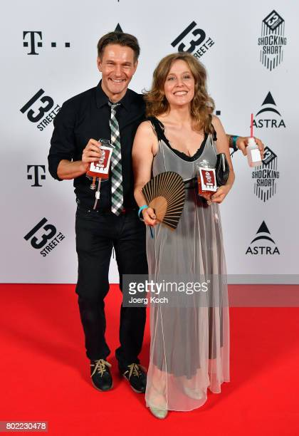 Actor Thure Riefenstein and actress Patricia Lueger attend the Shocking Shorts Award 2017 during the Munich Film Festival on June 27, 2017 in Munich,...