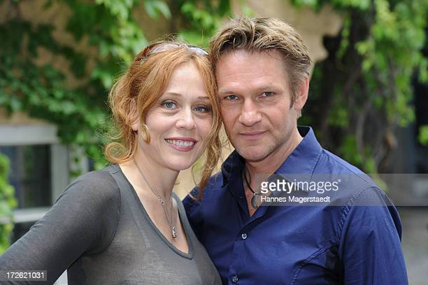 Actor Thure Riefenstein and his wife Patricia Lueger attend the FFF Reception during the Munich Film Festival 2013 at the Praterinsel on July 4, 2013...