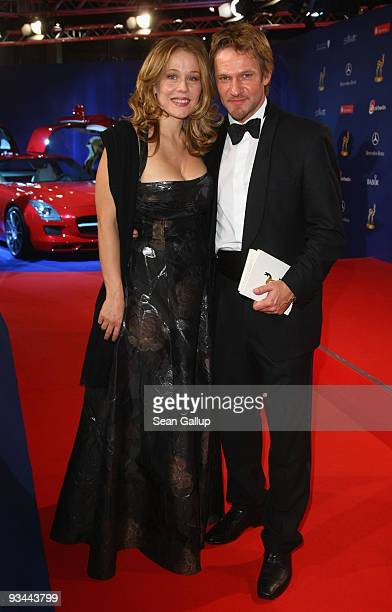 Actor Thure Riefenstein and Patricia Lueger attend the Bambi Awards 2009 show at the Metropolis Hall at the Filmpark Babelsberg on November 26 2009...