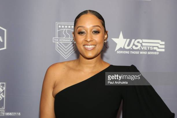 Actor Tia Mowry attends the 2019 U.S. Vets Salute Gala at The Beverly Hilton Hotel on November 05, 2019 in Beverly Hills, California.