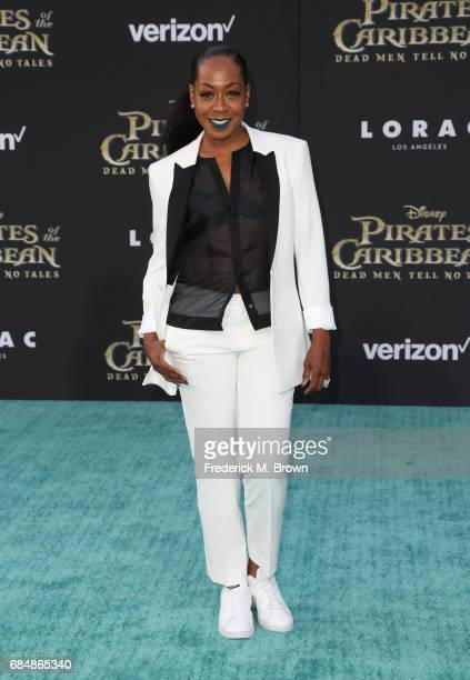 Actor Tichina Arnold attends the premiere of Disney's 'Pirates Of The Caribbean Dead Men Tell No Tales' at Dolby Theatre on May 18 2017 in Hollywood...