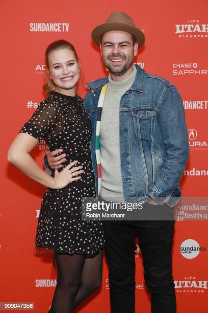 Actor Tiera Skovbye and Producer Jameson Parker attend the Summer Of '84 Premiere during the 2018 Sundance Film Festival at Park City Library on...