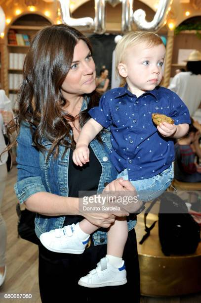 Actor Tiffani Thiessen and Holt Fisher Smith attend Little Marc Jacobs Celebration benefitting Baby2Baby on March 9 2017 in Los Angeles California