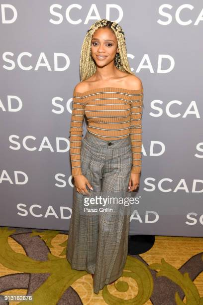 Actor Tiffany Boone attends a press junket for 'The Chi' on Day 1 of the SCAD aTVfest 2018 on February 1 2018 in Atlanta Georgia