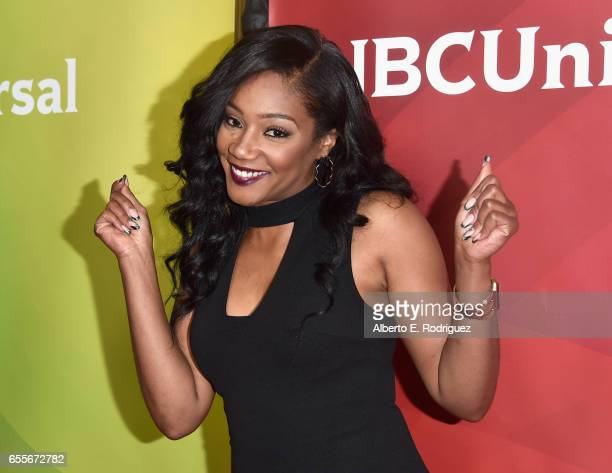 Actor Tiffany Haddish from the show The Carmichael Show attends the 2017 NBCUniversal Summer Press Day at The Beverly Hilton Hotel on March 20 2017...