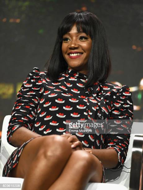 Actor Tiffany Haddish of 'The Last OG' speaks onstage during the TCA Turner Summer Press Tour 2017 Presentation at The Beverly Hilton Hotel on July...