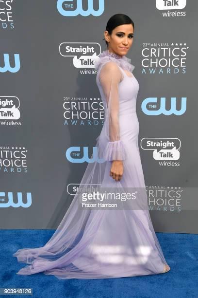 Actor Tiffany Smith attends The 23rd Annual Critics' Choice Awards at Barker Hangar on January 11 2018 in Santa Monica California