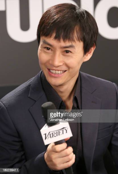 Actor Tiger Chen speaks at the Variety Studio presented by Moroccanoil at Holt Renfrew during the 2013 Toronto International Film Festivalon...