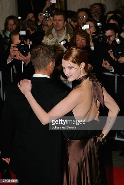 Actor Til Schweiger and actress Lauren Lee Smith attend the 34th annual German Film Ball at the Bayerischer Hof Hotel January 20 2007 in Munich...