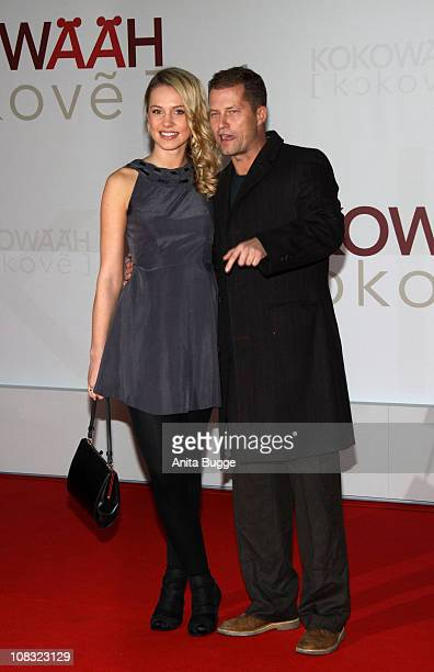 Actor Til Schweiger and his partner Svenja Holtmann arrive for the ''Kokowaeaeh' - Germany Premiere at the CineStar movie theater on January 25, 2011...