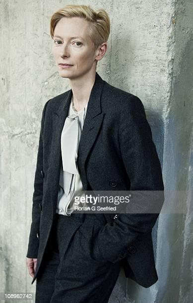 Actor Tilda Swinton poses for a portrait shoot in Berlin on September 15 2010