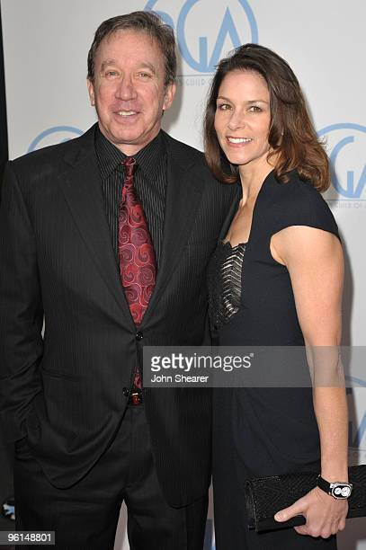Actor Tim Allen and actress Jane Hajduk arrive at the 2010 Producers Guild Awards held at Hollywood Palladium on January 24 2010 in Hollywood...