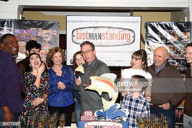 "Actor Tim Allen and cast of ""Last Man Standing"" attend the 100th episode celebration of ABC's ""Last Man Standing"" held at CBS Studios - Radford on..."
