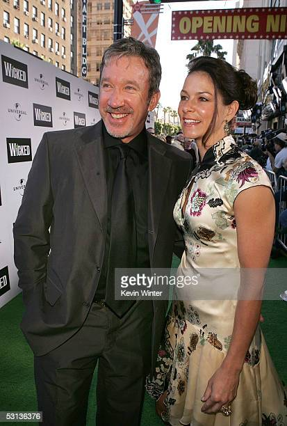 Actor Tim Allen and girlfriend Jane Hajduk arrive at the Los Angeles Premiere of the Broadway musical Wicked at the Pantages Theatre on June 22 2005...