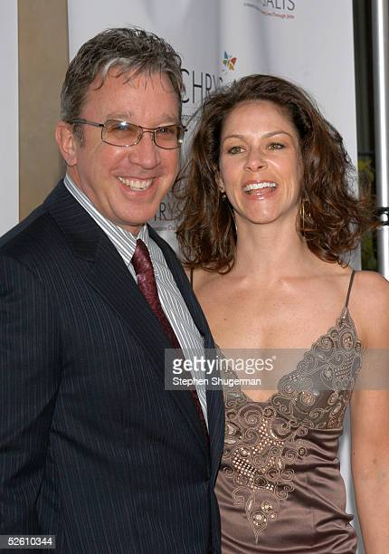 Actor Tim Allen and girlfriend Jane Hajduk attend Chrysalis' Fourth Annual Butterfly Ball at a private residence on April 9 2005 in Bel Air California