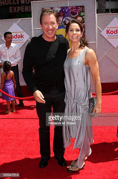 Actor Tim Allen and wife Jane Hajduk arrive at premiere of Walt Disney Pictures' Toy Story 3 held at El Capitan Theatre on June 13 2010 in Hollywood...