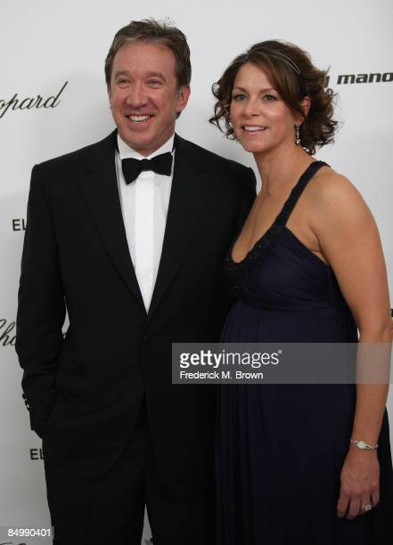 Actor Tim Allen and wife Jane Hajduk arrive at the 17th Annual Elton John AIDS Foundation's Academy Award Viewing Party held at the Pacific Design...