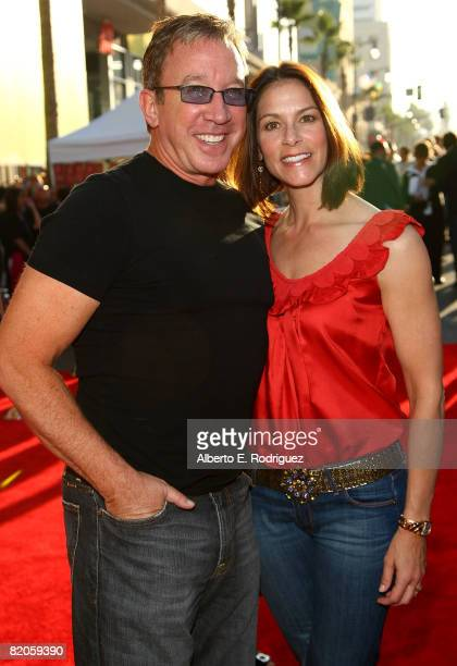 Actor Tim Allen and wife Jane Hajduk arrive at the world premiere of Touchstone Pictures' Swing Vote held at the El Capitan Theater on July 24 2008...