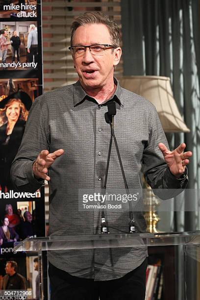 "Actor Tim Allen attends the 100th episode celebration of ABC's ""Last Man Standing"" held at CBS Studios - Radford on January 12, 2016 in Studio City,..."