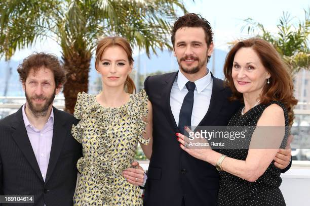 Actor Tim Blake Nelson, actress Ahna O'Reilly, director James Franco and actress Beth Grant attend the photocall for 'As I Lay Dying' at The 66th...