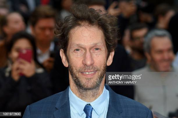 US actor Tim Blake Nelson poses upon arrival for the UK premiere of the film 'The Ballad of Buster Scruggs' during the BFI London Film Festival in...