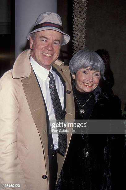 Actor Tim Conway and wife Charlene Fusco attend 25th Anniversary Celebration for 'Laugh In' on January 15 1993 at Loew's in Santa Monica Beach Hotel...