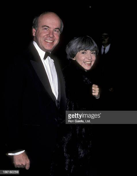Actor Tim Conway and wife Charlene Fusco attending 'Variety Club Tribute Honoring Ronald Reagan' on December 1 1985 at NBC TV Studios in Burbank...