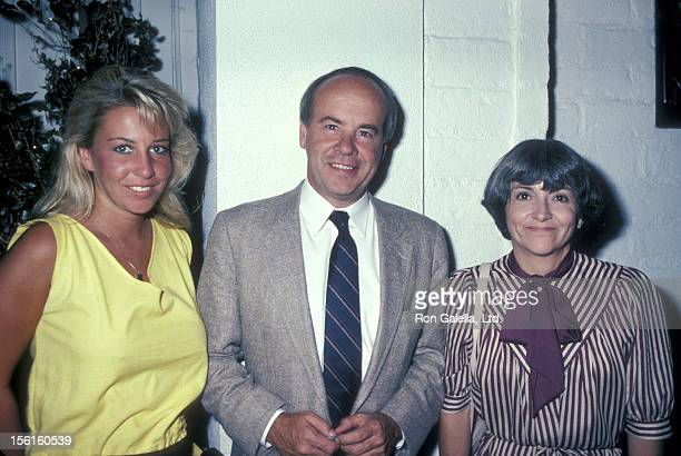 Actor Tim Conway wife Charlene Fusco and daughter Kelly Conway being photoraphed on August 9 1983 at Chasen's Restaurant in Beverly Hills California
