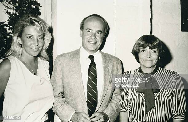 Actor Tim Conway wife Charlene Fusco and Kelly Conway being photoraphed on August 1 1983 at Chasen's Restaurant in Beverly Hills California