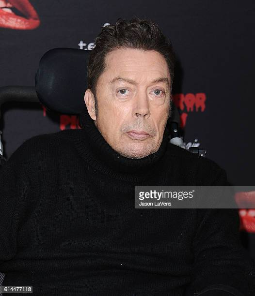 Actor Tim Curry attends the premiere of 'The Rocky Horror Picture Show Let's Do The Time Warp Again' at The Roxy Theatre on October 13 2016 in West...