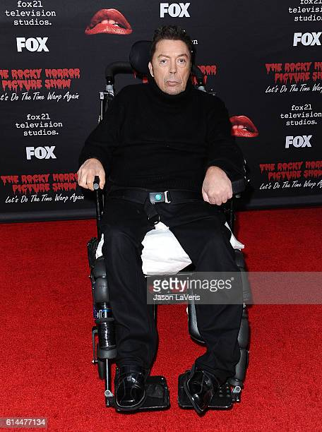 Actor Tim Curry attends the premiere of The Rocky Horror Picture Show Let's Do The Time Warp Again at The Roxy Theatre on October 13 2016 in West...