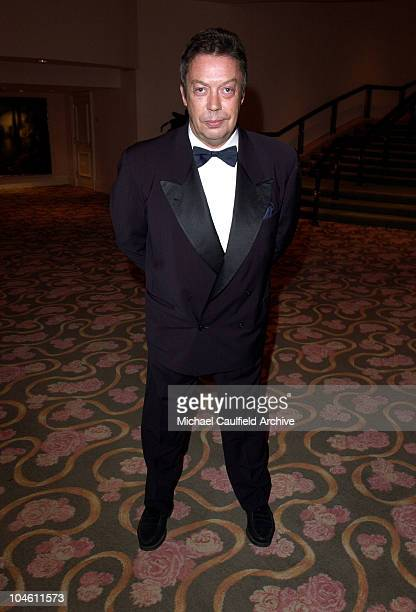 Actor Tim Curry poses in the lobby prior to the awards presentation