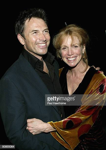 Actor Tim Daly and his wife Amy Van Nostrand attend a party at QUO sponsored by the Gersh Agency celebrating New York Upfronts with LA Confidential...