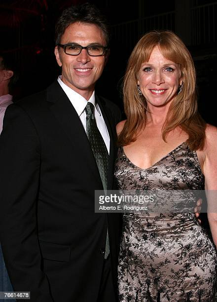 Actor Tim Daly and wife/actress Amy Van Nostrand pose inside at The Pink Party to benefit CedarSinai Women's Cancer Research Institute at Viceroy...