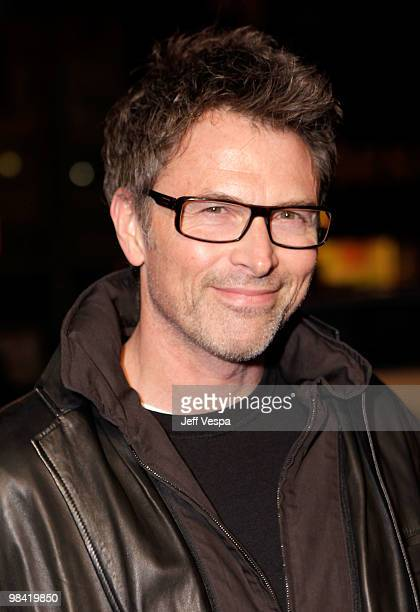Actor Tim Daly arrives at Banksy's 'Exit Through The Gift Shop' premiere at Los Angeles Theatre on April 12 2010 in Los Angeles California