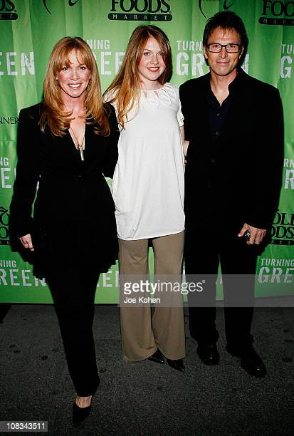 Actor Tim Daly arrives with wife Amy Van Nostrand and daughter Emelyn Daly at the Teens Turning Green National Campaign KickOff at the Broad Street...