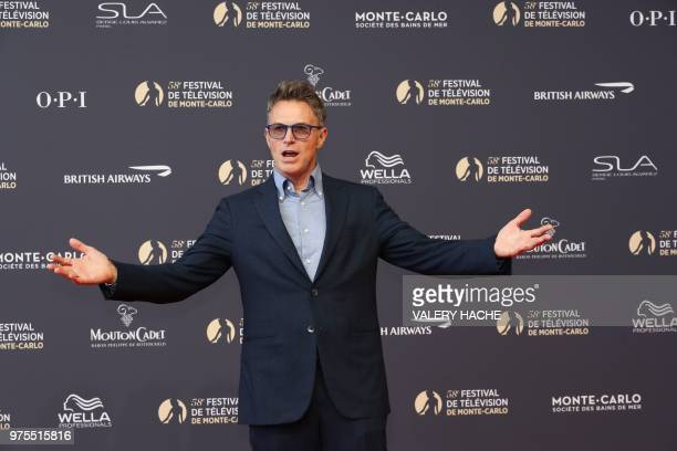 US actor Tim Daly poses as he arrives for the screening of the film 'Jack Ryan' during the opening during the opening of the 58th MonteCarlo...