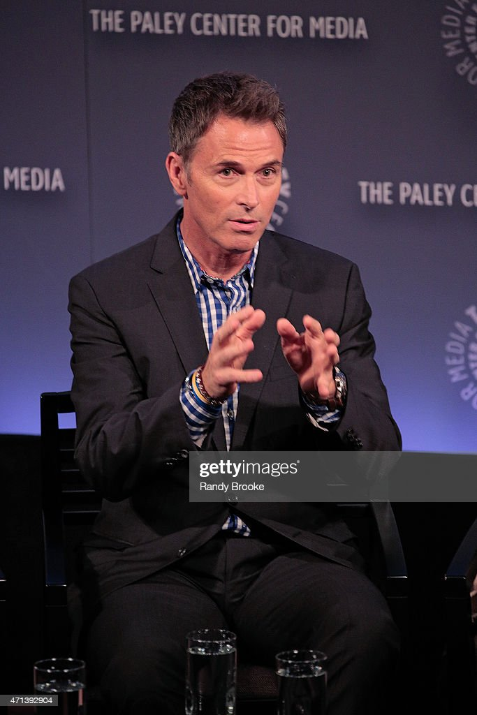 Actor Tim Daly speaks during The Paley Center for Media presents an evening with 'Madame Secretary' at Paley Center For Media on April 27, 2015 in New York City.