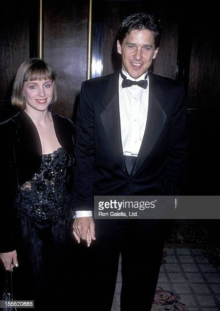 Actor Tim Matheson and wife Megan Murphy Matheson attend the Fourth Annual American Cinematheque Award Salute to Steven Spielberg on April 1 1989 at...