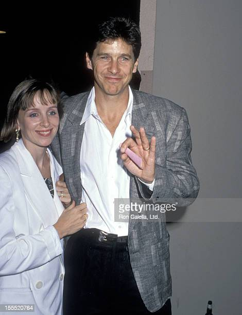 Actor Tim Matheson and wife Megan Murphy Matheson attend the Great Balls of Fire West Hollywood Premiere on June 29 1989 at DGA Theatre in West...